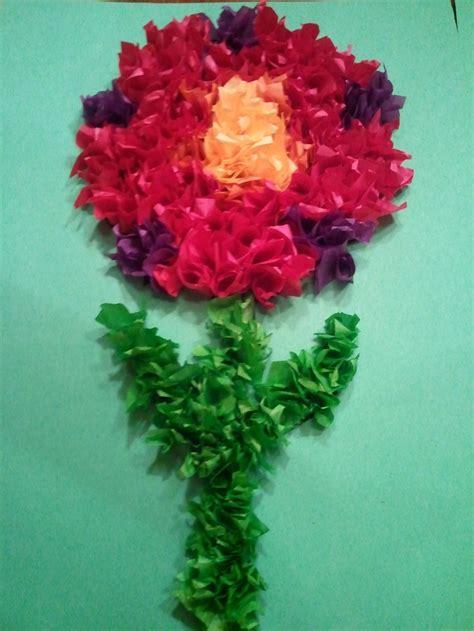 flower tissue paper craft tissue paper flower missions trip crafts