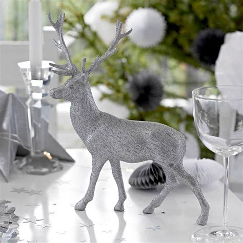 silver table decorations for silver reindeer table decorations by