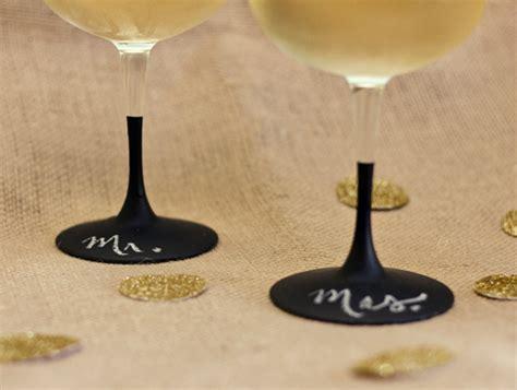 diy chalk paint glasses diy chalkboard wine glasses hearts