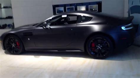 Matte Black Aston Martin by Matte Black Aston Martin V12 Vantage Carbon Edition Serial