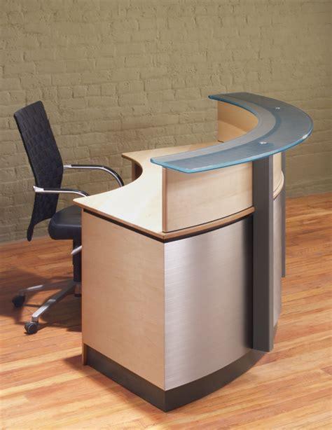 small receptionist desk crescent modern reception desk stoneline designs