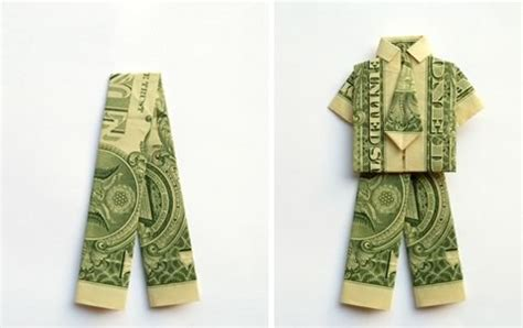 how to make origami out of money make money origami trousers or step by step