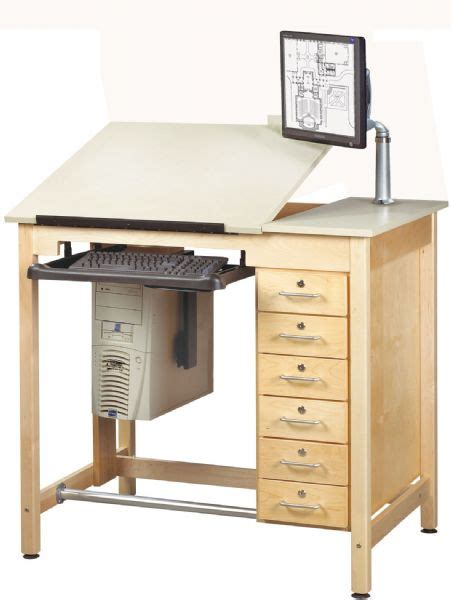 drafting table with computer drafting tables drawing tables computer furniture