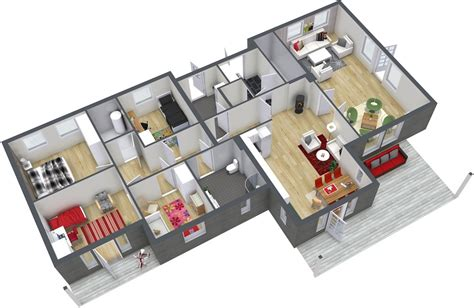 4 bedroom floor plans 4 bedroom floor plans roomsketcher