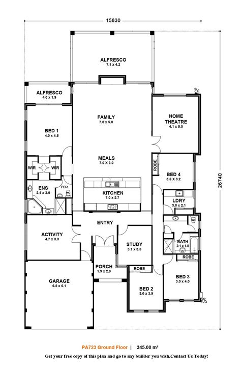 floor plans for homes one story one storey house designs and floor plans home deco plans