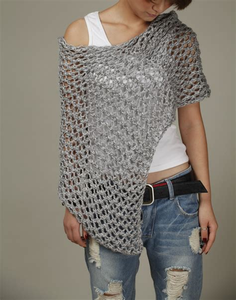 knitted ponchos knitted cotton poncho grey knit scarf knit