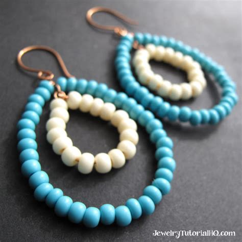 diy beaded hoop earrings diy beaded hoop earrings bead giveaway creative spotting