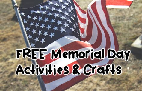 memorial day crafts for hopping from k to 2 free memorial day activities and crafts