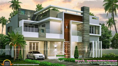 modern house plan 4 bedroom contemporary home design kerala home design and floor plans