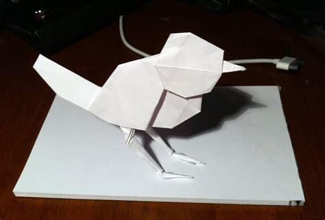 robin origami 77 robin setting the crease