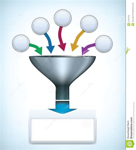 funnel presentation template royalty free stock photo