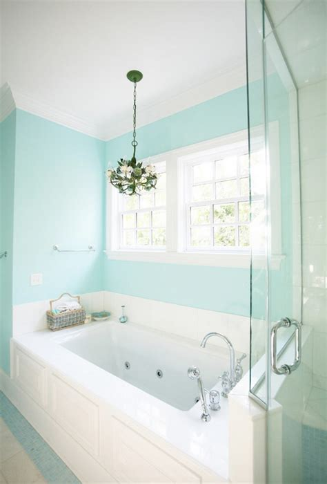 Spa Blue Bathroom by Blue Paint Colors Contemporary Bathroom