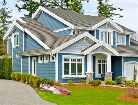 house paint colors exterior blue bloombety some types of siding on house with blue color