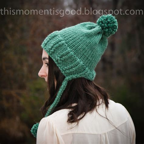 loom knitting hat brim loom knit earflap split brim hat this moment is
