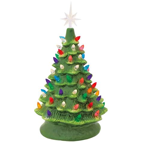 small trees with lights ceramic tree with lights bronner s