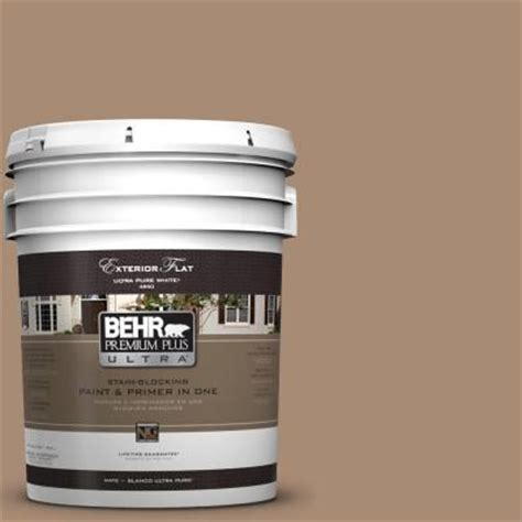 home depot ultra paint behr premium plus ultra 5 gal n240 5 rodeo flat