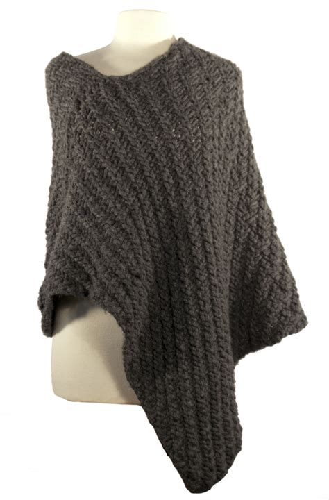 knitted poncho pattern easy wrap poncho knitting pattern instant pdf