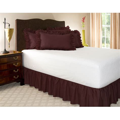 black bed skirt solid ruffled bed skirt 18 quot drop length dust ruffle ebay