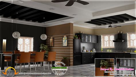 Interior Design For Kitchen And Dining kitchen interior dining area design home kerala plans
