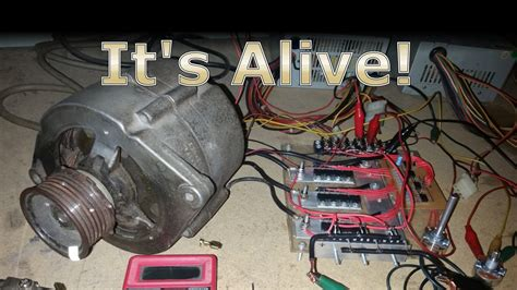 Alternator Electric Motor running a car alternator as a bldc electric motor with the