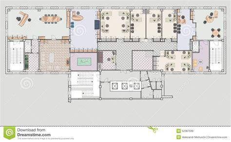 immeuble de bureaux de plan illustration stock image 52367599