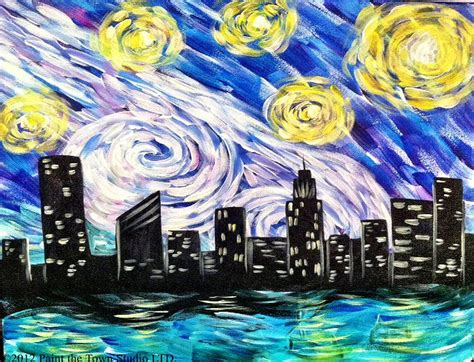 family paint nite island paint the town starry nyc