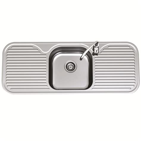clark kitchen sinks clark 1230mm advance single centre bowl sink with 1 tap