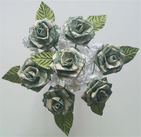 money origami roses origami money for wedding favors anniversary