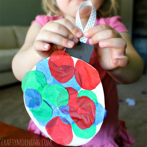 paper plate ornaments paper plate ornament craft for crafty morning