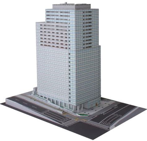 paper craft buildings free papercraft and paper model japanese skyscraper