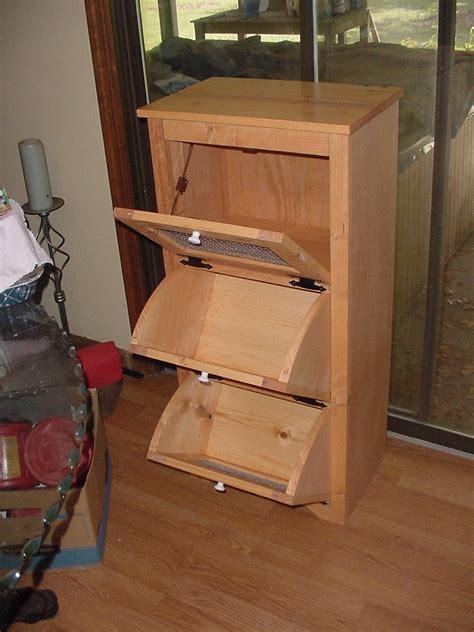 potato and bin woodworking plans potato storage bins wood projects