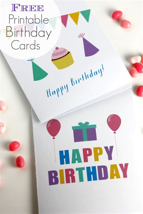 birthday card free printable free printable birthday cards