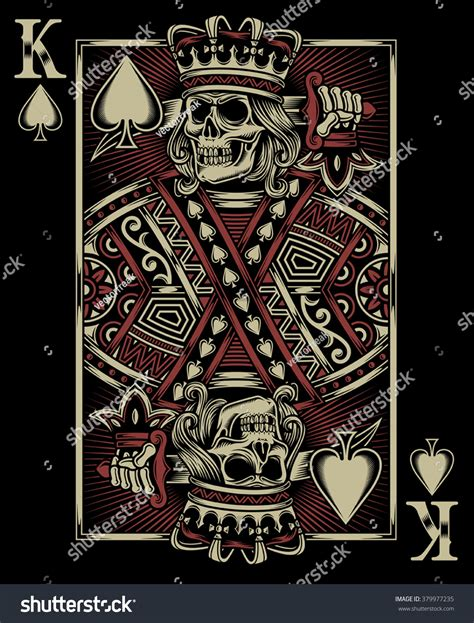 skull playing card stock vector 379977235 shutterstock
