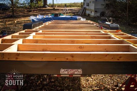 how to build a floor for a house tiny house subfloor construction part ii