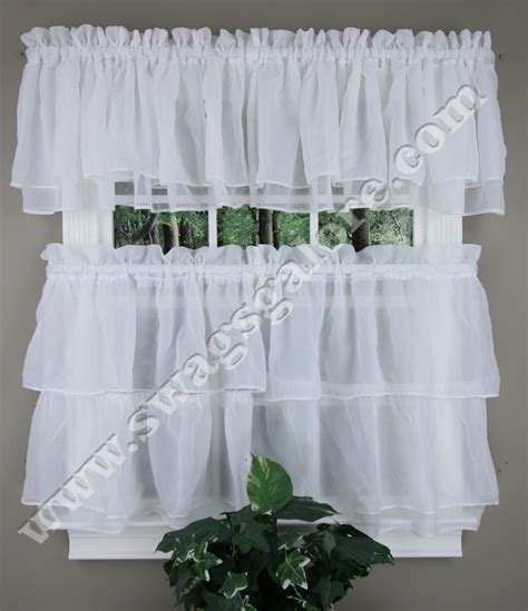 and white kitchen curtains tier and valance curtains white lorraine