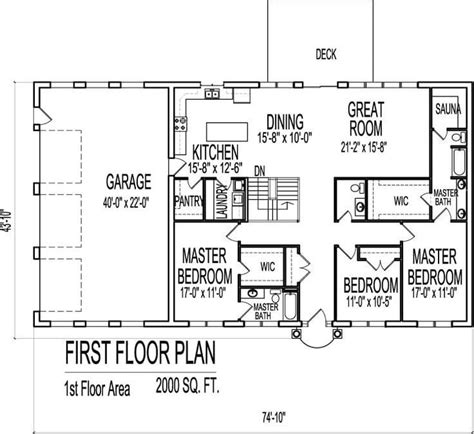 floor plans 2000 square contemporary ranch home plan 2000 sq ft