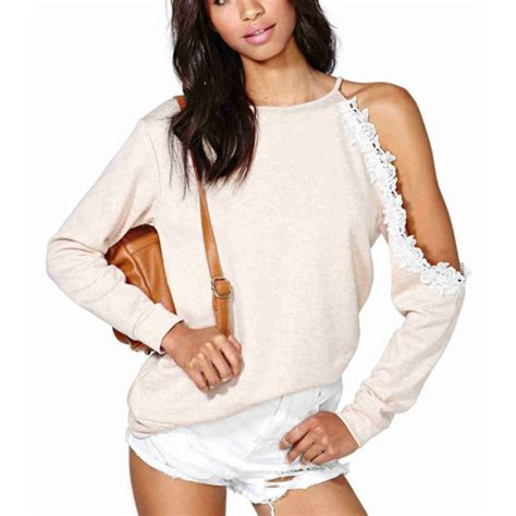 one shoulder knit sweater sweater one shoulder hollow knitted sweater wheretoget