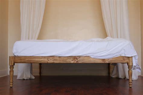 bed bed platform bed bed frame bohemian wood rustic boutique