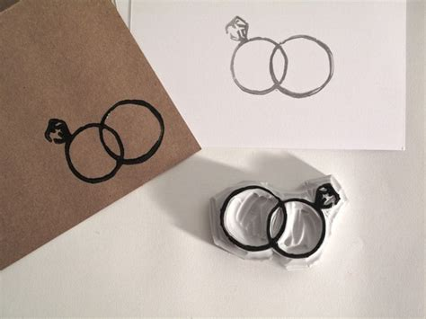 rubber wedding sts wedding rings st carved rubber st