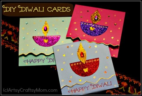 diwali cards for to make diy diwali card idea for artsy craftsy