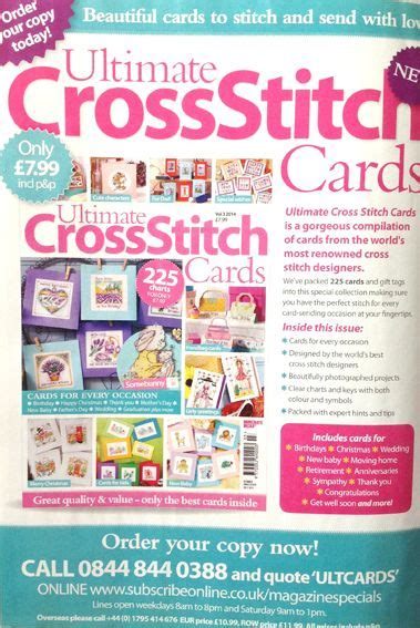 best card magazine 40 best images about magazine cross stich card on