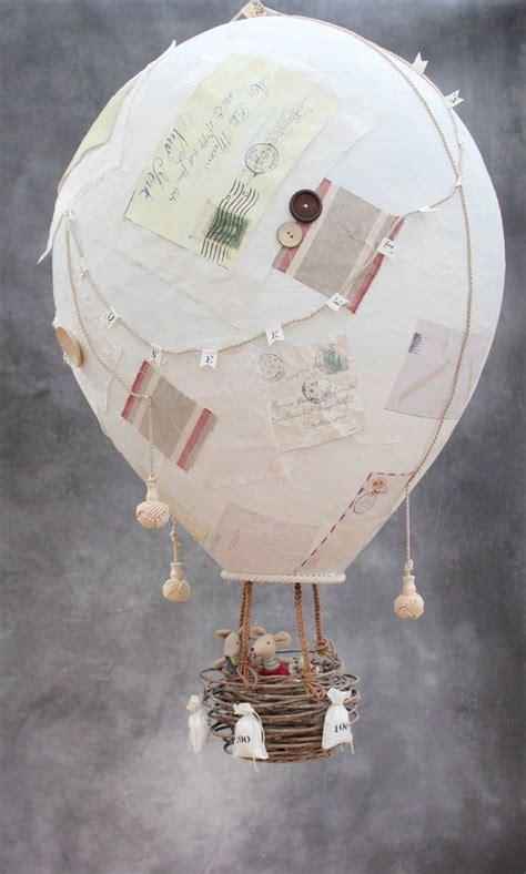 paper mache balloon crafts how to make a papier m 226 ch 233 air balloon diy