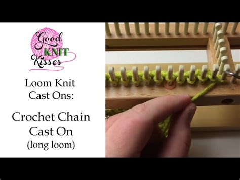 how to cast on a knitting loom loom knit crochet chain cast on loom