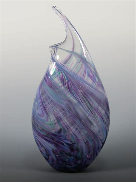 cool glass wave vase rosetree blown glass