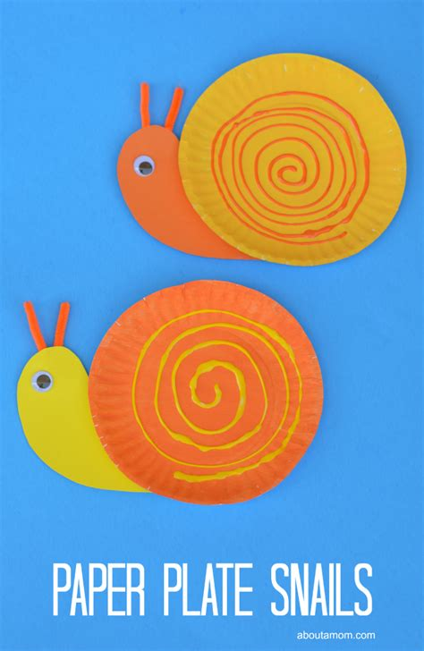 snail paper plate craft pape plate snail craft for about a