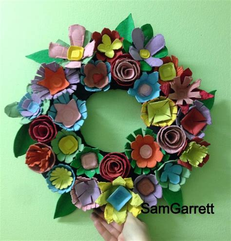 crafts for adults egg wreath recycled crafts egg craft for