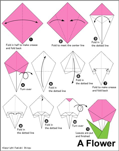really easy origami for origami flower