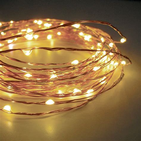 how to wire lights to a battery 120 warm white led string lights wire electric 20