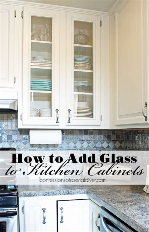 glass doors kitchen cabinets how to add glass to cabinet doors confessions of a