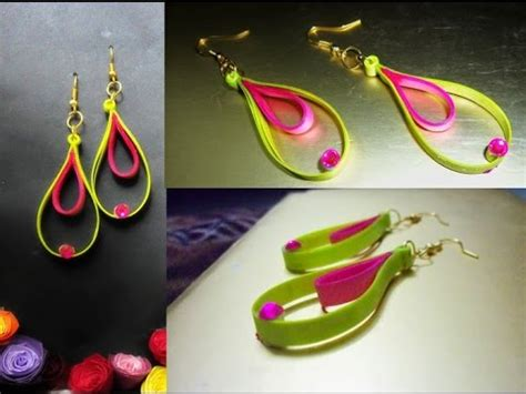 paper craft earrings papercraft handmade jewelry quilling paper earrings